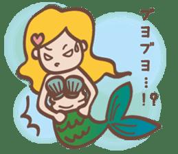 lovely mermaid sticker #993243
