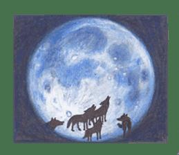 Wolf's song(1) sticker #993650