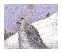 Wolf's song(1) sticker #993651