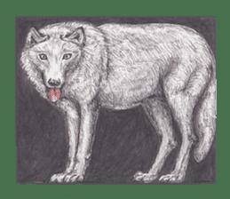Wolf's song(1) sticker #993652
