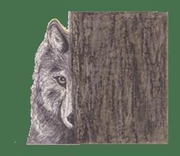 Wolf's song(1) sticker #993659