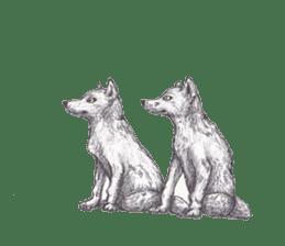 Wolf's song(1) sticker #993660
