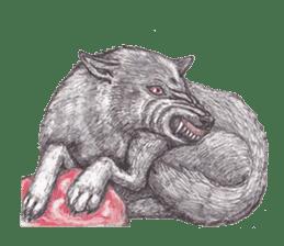 Wolf's song(1) sticker #993663