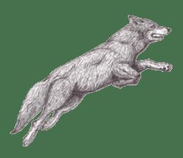 Wolf's song(1) sticker #993668