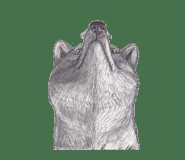 Wolf's song(1) sticker #993675