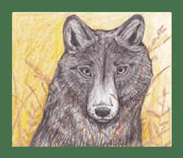 Wolf's song(1) sticker #993677