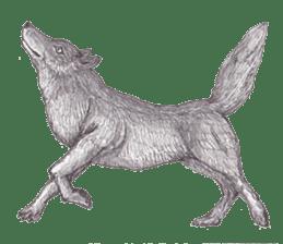 Wolf's song(1) sticker #993678