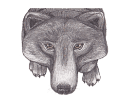 Wolf's song(1) sticker #993680