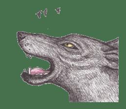 Wolf's song(1) sticker #993683