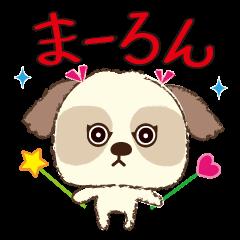 Shih Tzu Marlon daily life sticker