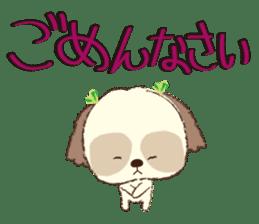 Shih Tzu Marlon daily life sticker sticker #993740