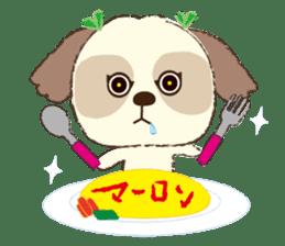 Shih Tzu Marlon daily life sticker sticker #993760