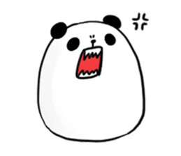 fatty panda sticker #994373