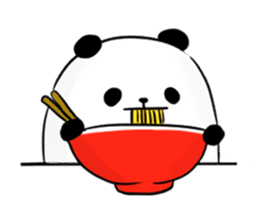 fatty panda sticker #994406