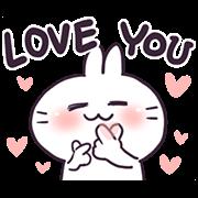 สติ๊กเกอร์ไลน์ Bosstwo - Cute Rabbits Love You!