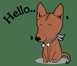 LONG BACK dog (English) sticker #995367