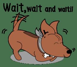 LONG BACK dog (English) sticker #995370