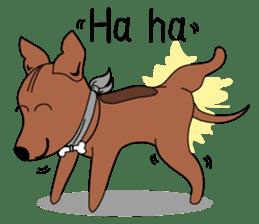LONG BACK dog (English) sticker #995373