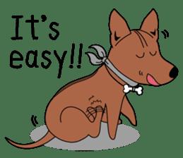 LONG BACK dog (English) sticker #995375
