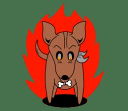 LONG BACK dog (English) sticker #995378