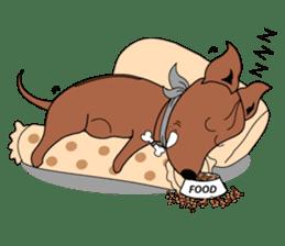 LONG BACK dog (English) sticker #995380