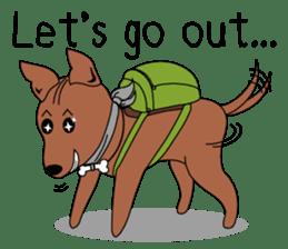 LONG BACK dog (English) sticker #995385