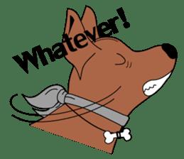 LONG BACK dog (English) sticker #995389