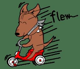 LONG BACK dog (English) sticker #995393