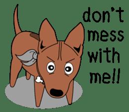 LONG BACK dog (English) sticker #995395