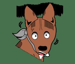 LONG BACK dog (English) sticker #995396