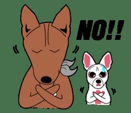 LONG BACK dog (English) sticker #995398