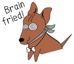 LONG BACK dog (English) sticker #995401