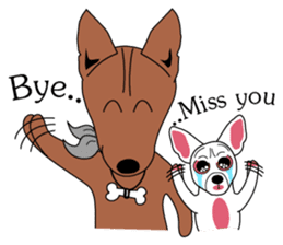 LONG BACK dog (English) sticker #995406