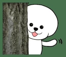 Dog of Afro hair, Mr. Omochi. sticker #996492