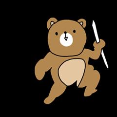 Bear cub sticker