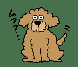 Funny poodle like a human. sticker #1005008