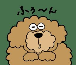 Funny poodle like a human. sticker #1005010