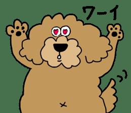 Funny poodle like a human. sticker #1005012