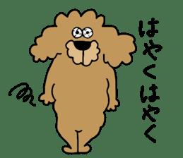 Funny poodle like a human. sticker #1005013