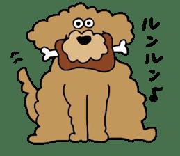 Funny poodle like a human. sticker #1005015