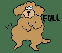 Funny poodle like a human. sticker #1005016