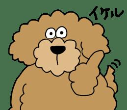 Funny poodle like a human. sticker #1005017