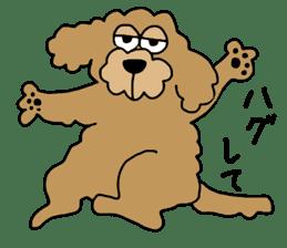 Funny poodle like a human. sticker #1005018