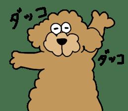 Funny poodle like a human. sticker #1005038