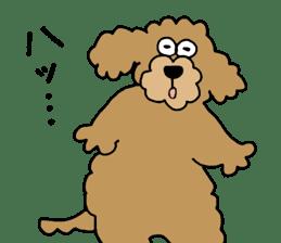 Funny poodle like a human. sticker #1005039