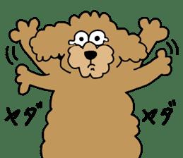 Funny poodle like a human. sticker #1005044
