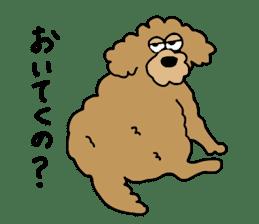 Funny poodle like a human. sticker #1005046