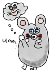 mouse sticker #1005892