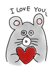 mouse sticker #1005912
