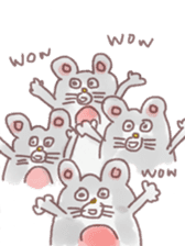 mouse sticker #1005923